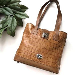 Vintage Dooney & Bourke Shoulder Bag Satchel Brown